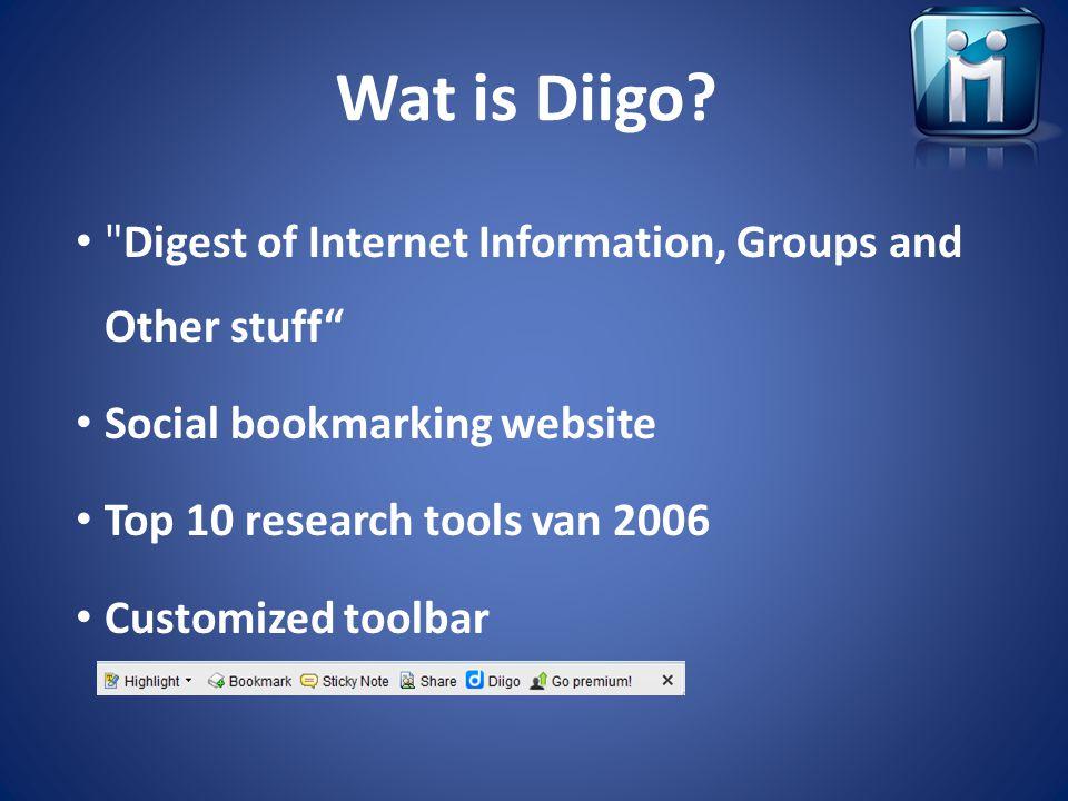 Wat is Diigo?