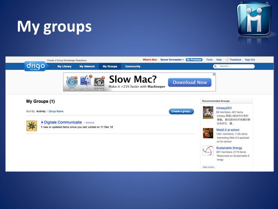 My groups