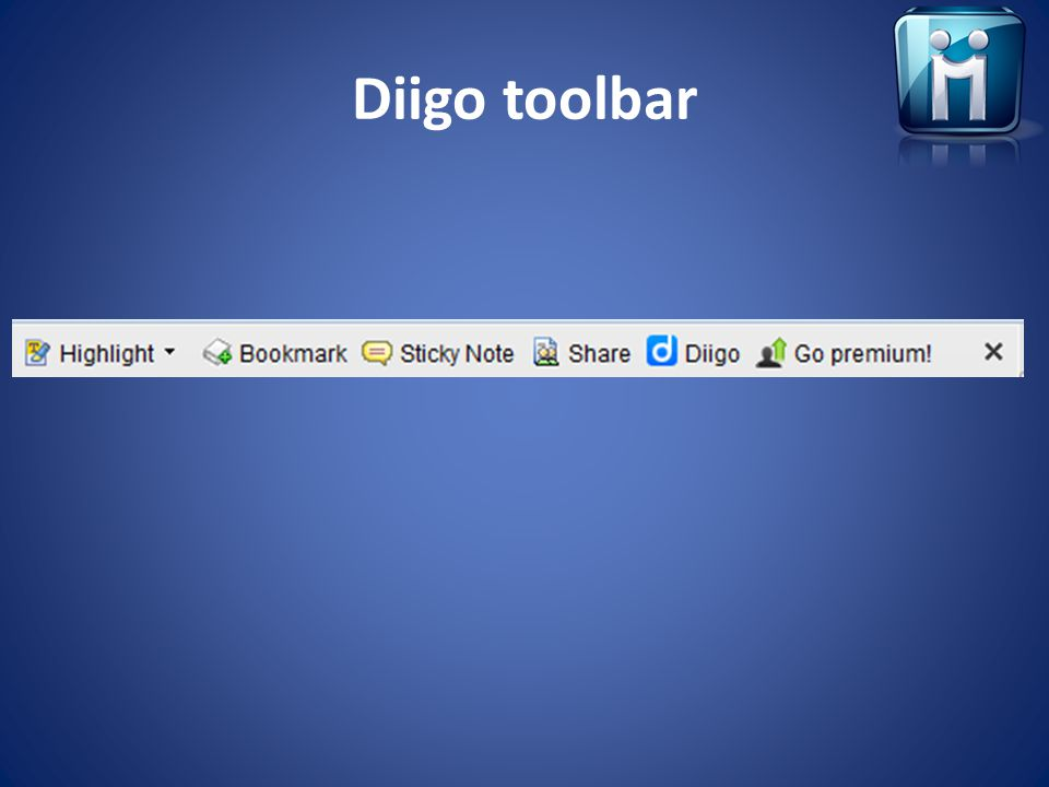 Diigo toolbar