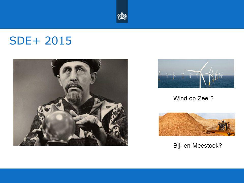 SDE+ 2015 Wind-op-Zee ? Bij- en Meestook?