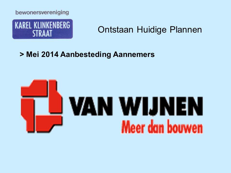 Ontstaan Huidige Plannen > November 2014 Kennismaking Van Wijnen Presentatie Van Wijnen