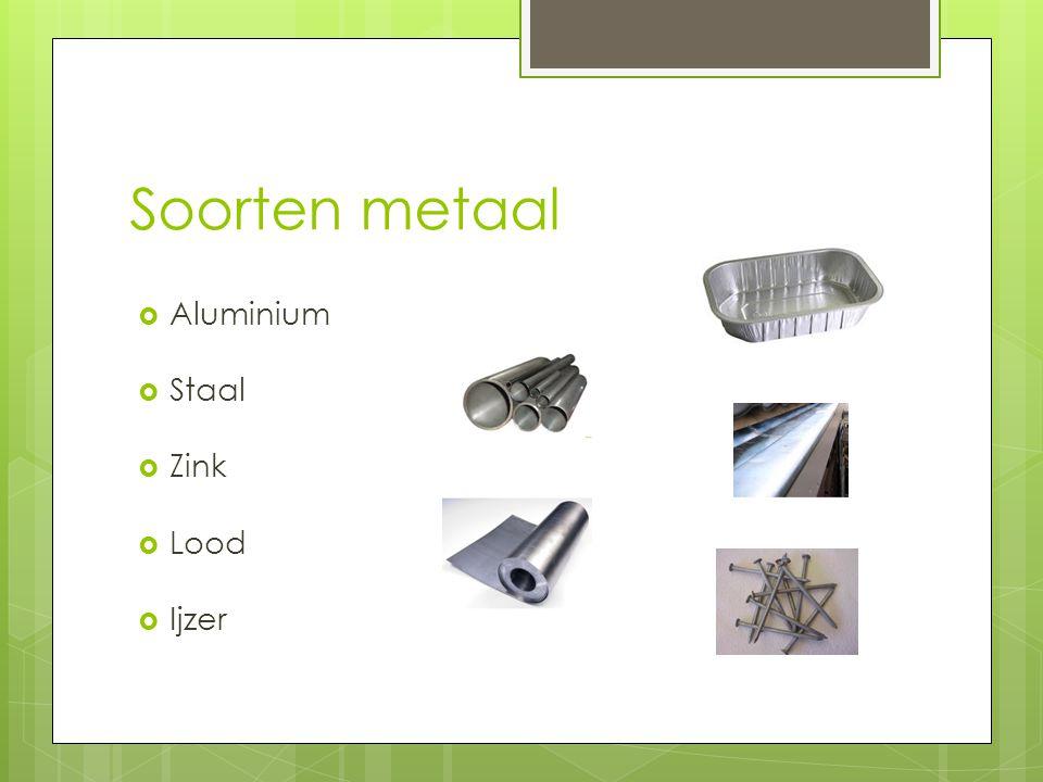 Zoek van elk metaal en plaatje en bedenk waarvoor het metaal gebruikt kan worden? (Werk in 2-tallen