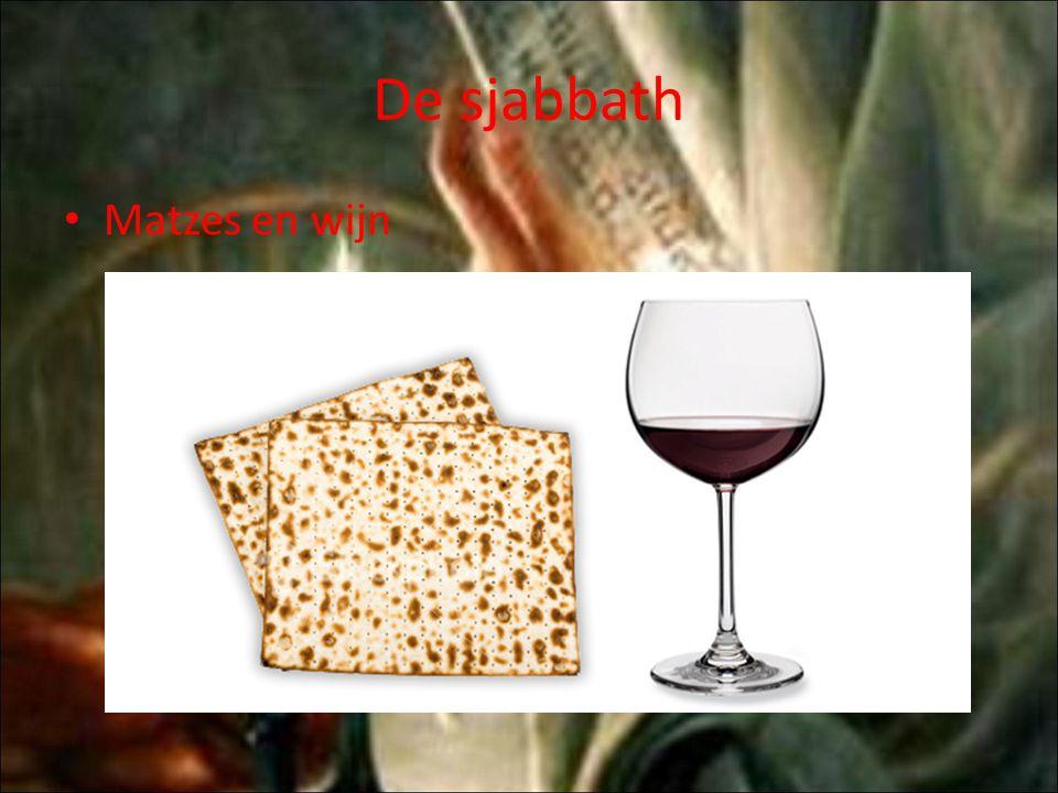 De sjabbath Matzes en wijn