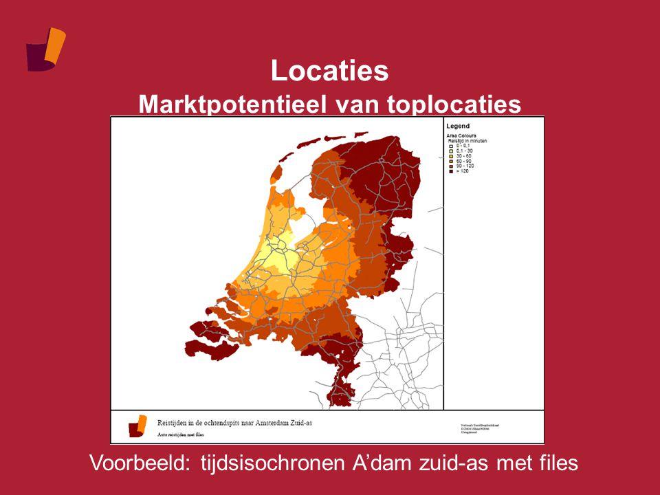Locaties Ontplooiingsmogelijkheden Verschil in ontplooiingsmogelijkheden Avondspits Inwoners en arbeidsplaatsen 2020 2020 t.o.v.