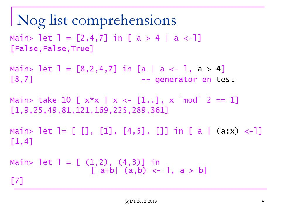 I/O HASKELL (S)DT 2012-2013 45