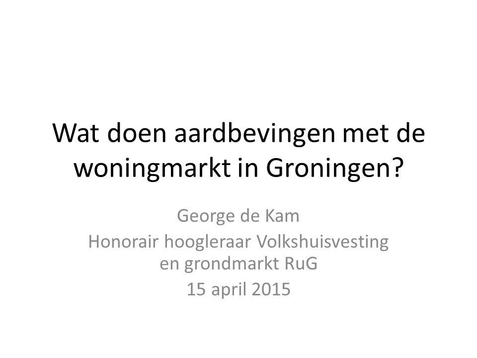 Wat doen aardbevingen met de woningmarkt in Groningen.