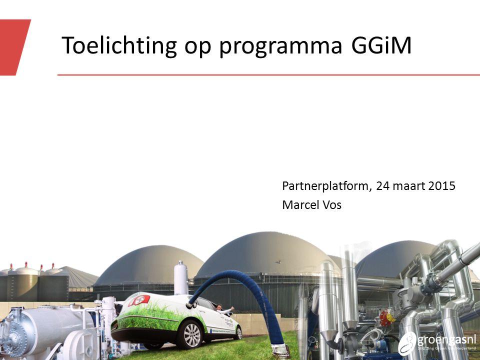 Toelichting op programma GGiM Partnerplatform, 24 maart 2015 Marcel Vos