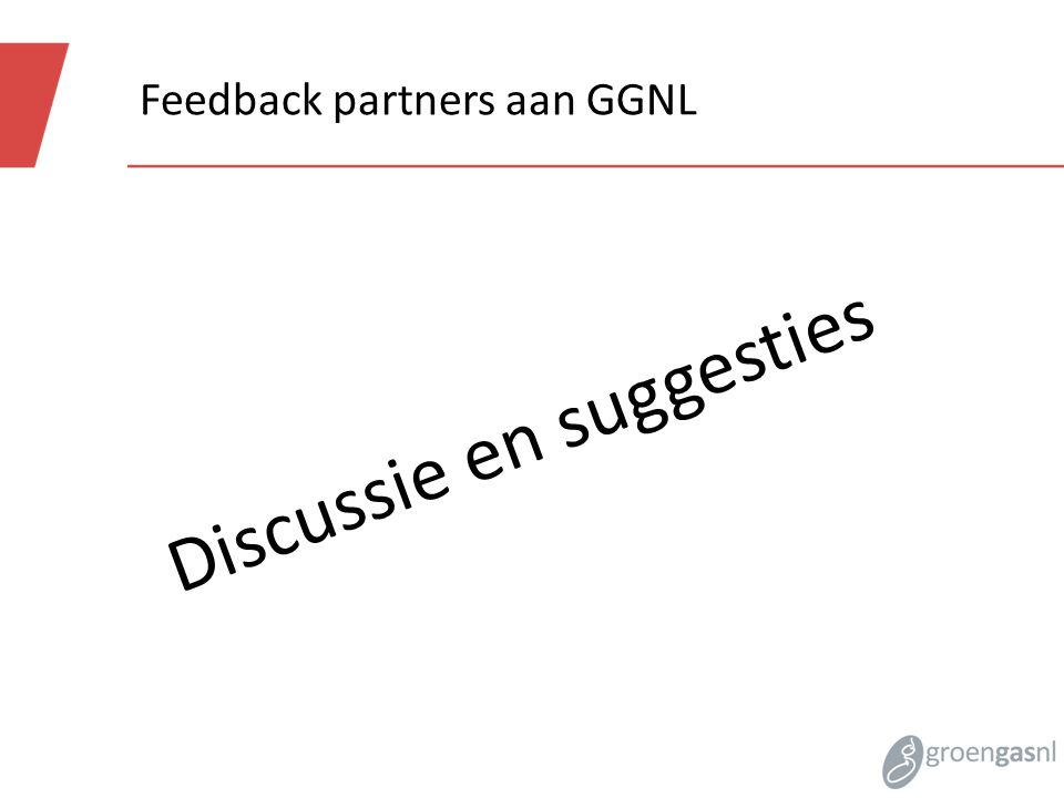 Feedback partners aan GGNL Discussie en suggesties