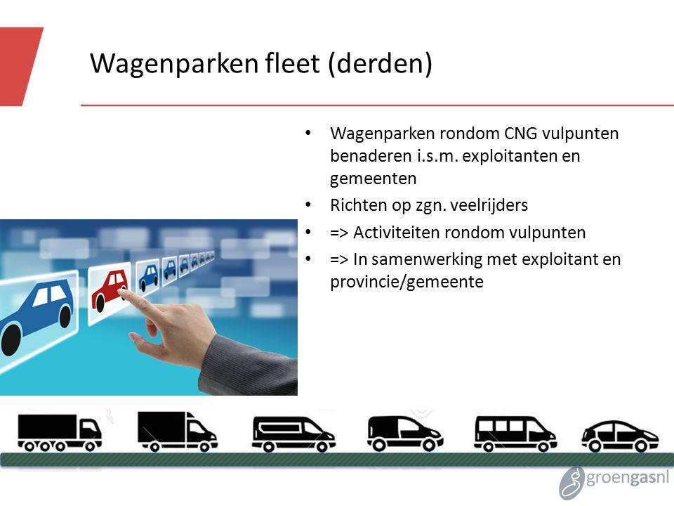 Wagenparken fleet (derden) Wagenparken rondom CNG vulpunten benaderen i.s.m.