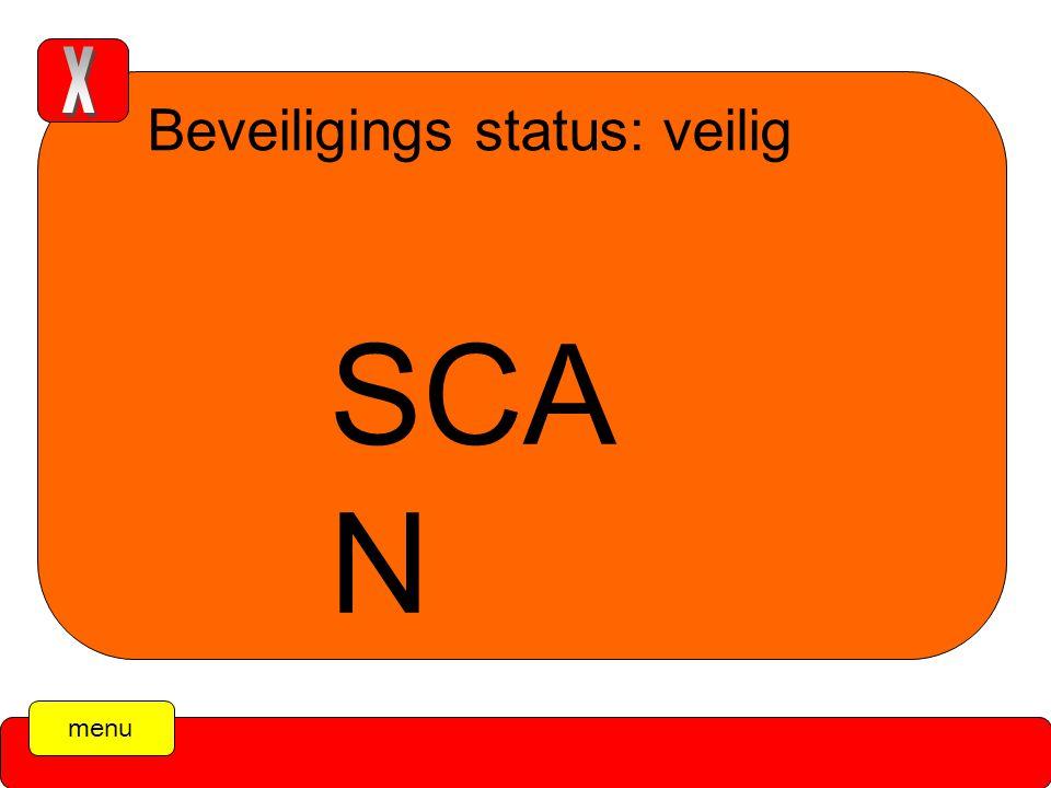 Beveiligings status: veilig SCA N