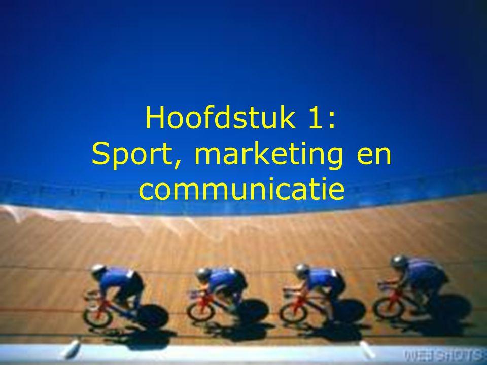 2 Eigenschappen van sport Sport als uniek dienstengoed Sport als industrie Sportmarketing binnen sportmanagement Marketingcommunicatie in de sport * Van sport * Voor sport Kansen voor geïntegreerde sportmarketingcommunicatie Belemmeringen voor geïntegreerde sportmarketingcommunicatie Structuur Hoofdstuk 1