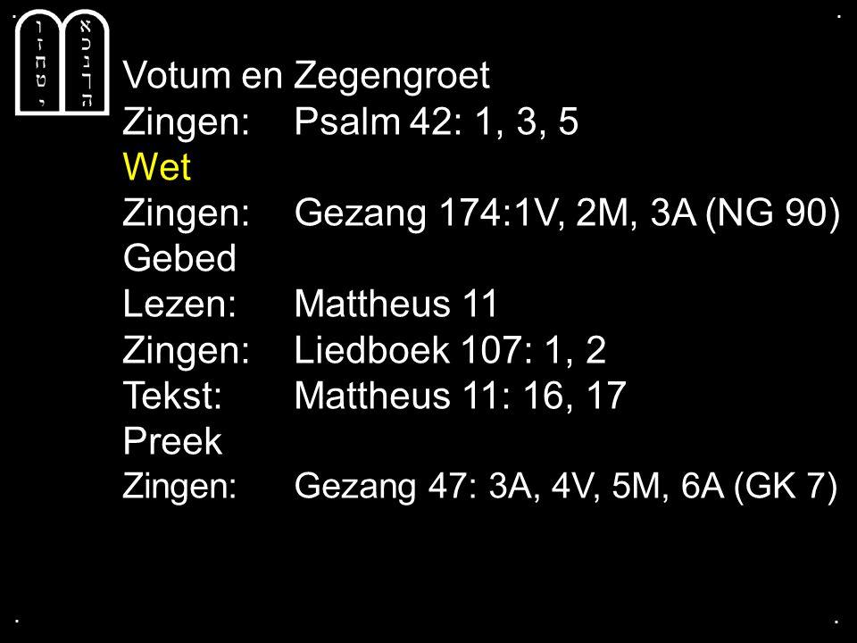 ... Liedboek 305: 1b, 2