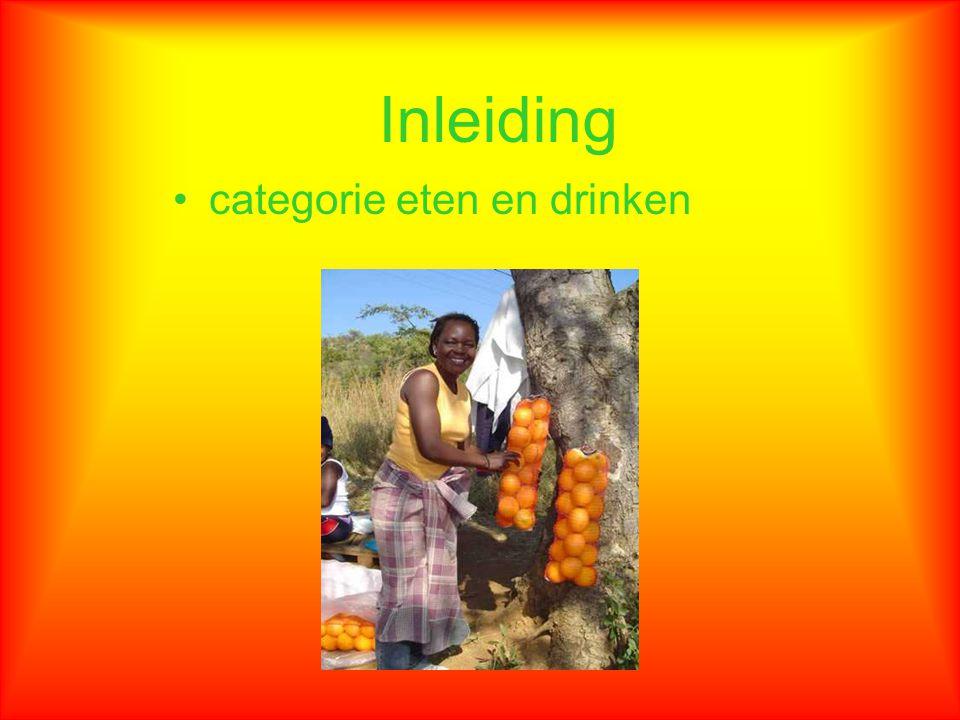 Inleiding categorie eten en drinken
