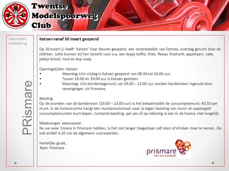 PRismare Ingezonden mededeling Katoen vanaf 30 maart geopend Op 30 maart jl.