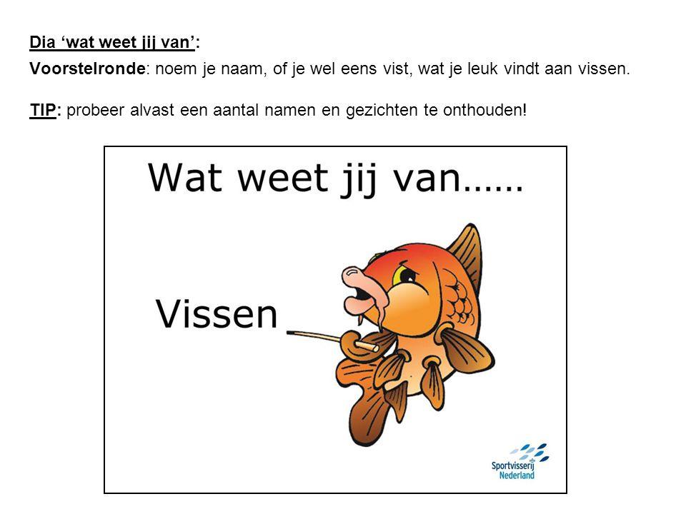 Dia Nederlandse zoetwatervissen: Welke vissen kennen jullie.