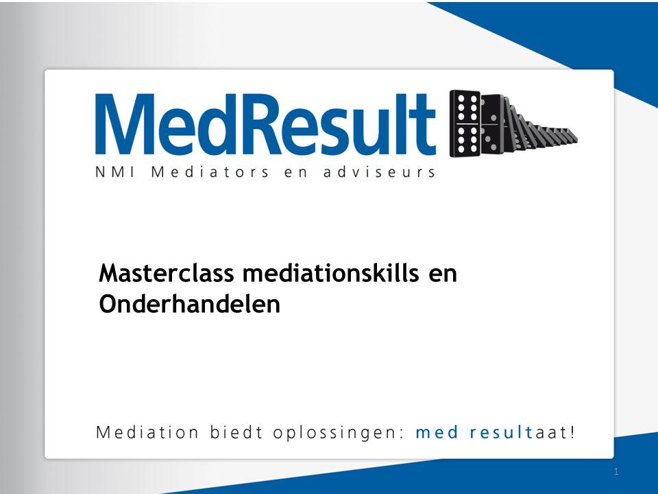 Masterclass mediationskills en Onderhandelen 1