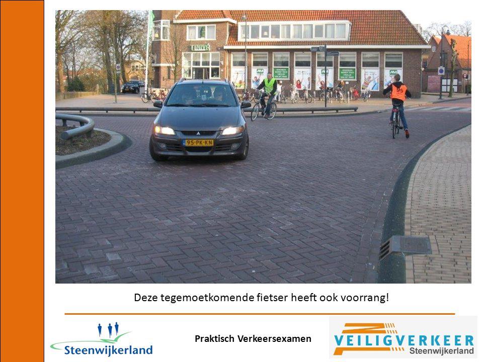 Praktisch Verkeersexamen Deze tegemoetkomende fietser heeft ook voorrang!