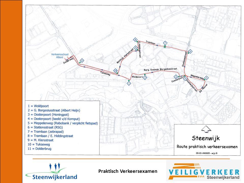 Praktisch Verkeersexamen Hier krijg je voorrang van de fietser van links!!