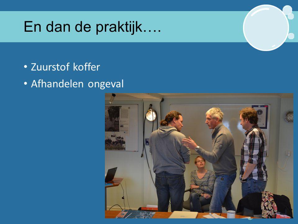 1* Instructeur Tiel 2015 14 En dan de praktijk…. Zuurstof koffer Afhandelen ongeval