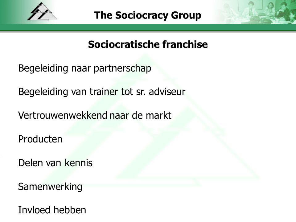 The Sociocracy Group Sociocratische franchise Begeleiding naar partnerschap Begeleiding van trainer tot sr.