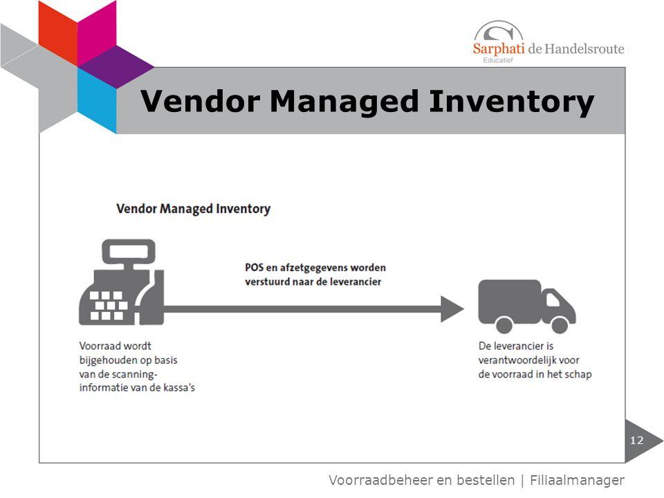 12 Voorraadbeheer en bestellen | Filiaalmanager Vendor Managed Inventory