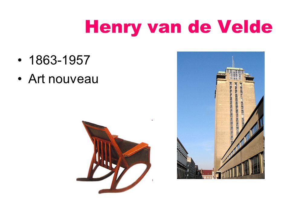 Henry van de Velde 1863-1957 Art nouveau
