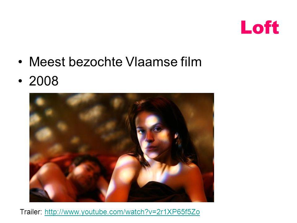 Loft Meest bezochte Vlaamse film 2008 Trailer: http://www.youtube.com/watch?v=2r1XP65f5Zohttp://www.youtube.com/watch?v=2r1XP65f5Zo