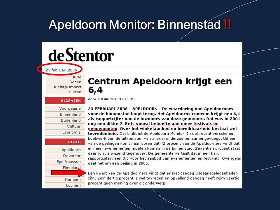 Apeldoorn Monitor: Binnenstad !!
