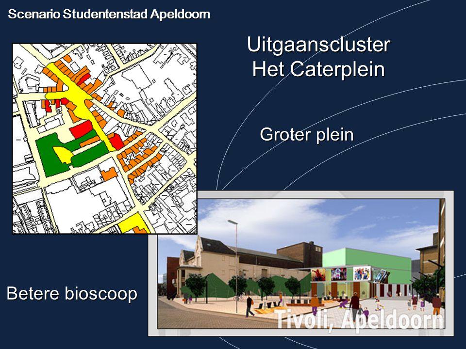 Scenario Studentenstad Apeldoorn Uitgaanscluster Het Caterplein Groter plein Betere bioscoop