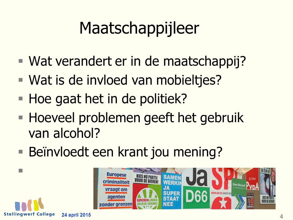 Sectoren Economie Landbouw Techniek Zorg en Welzijn 24 april 2015 5