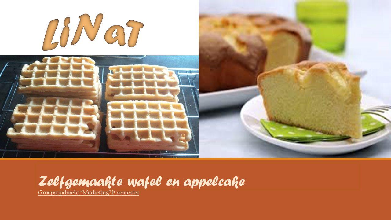 "Zelfgemaakte wafel en appelcake Groepsopdracht ""Marketing"" 1 e semester"