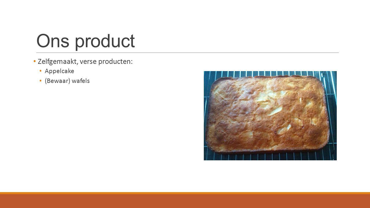 Ons product Zelfgemaakt, verse producten: Appelcake (Bewaar) wafels