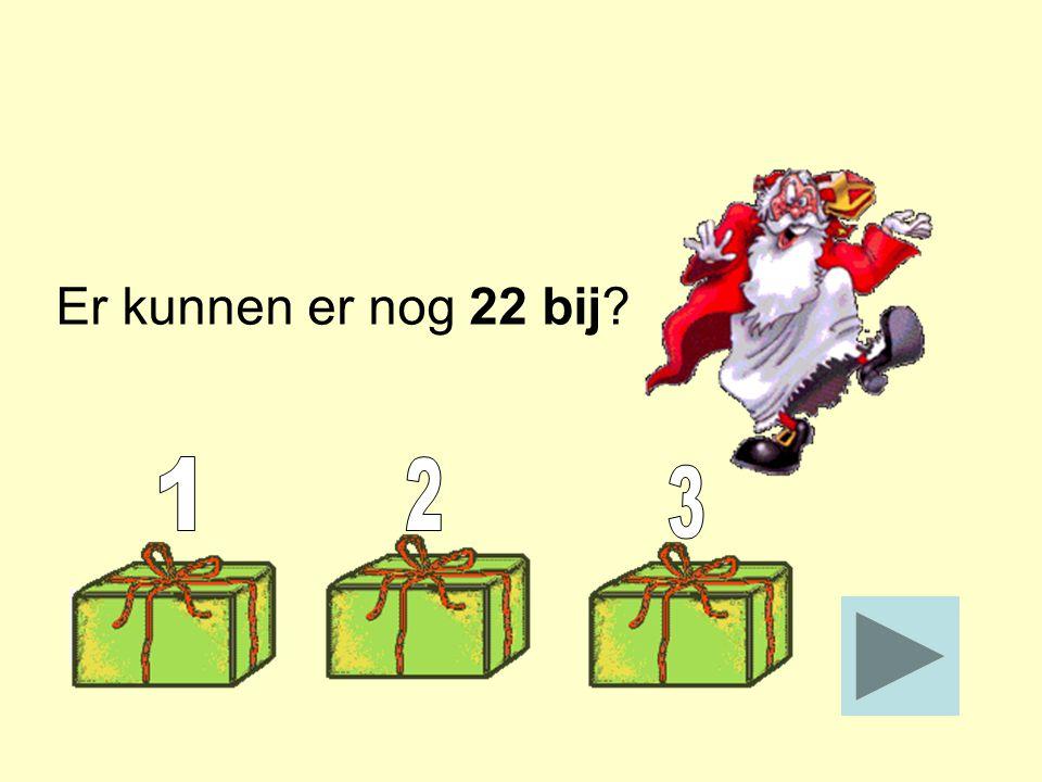 In een doos kunnen 50 taaipoppen. Piet heeft er 28 in gelegd. Hoeveel kunnen er nog bij? _____ Stop