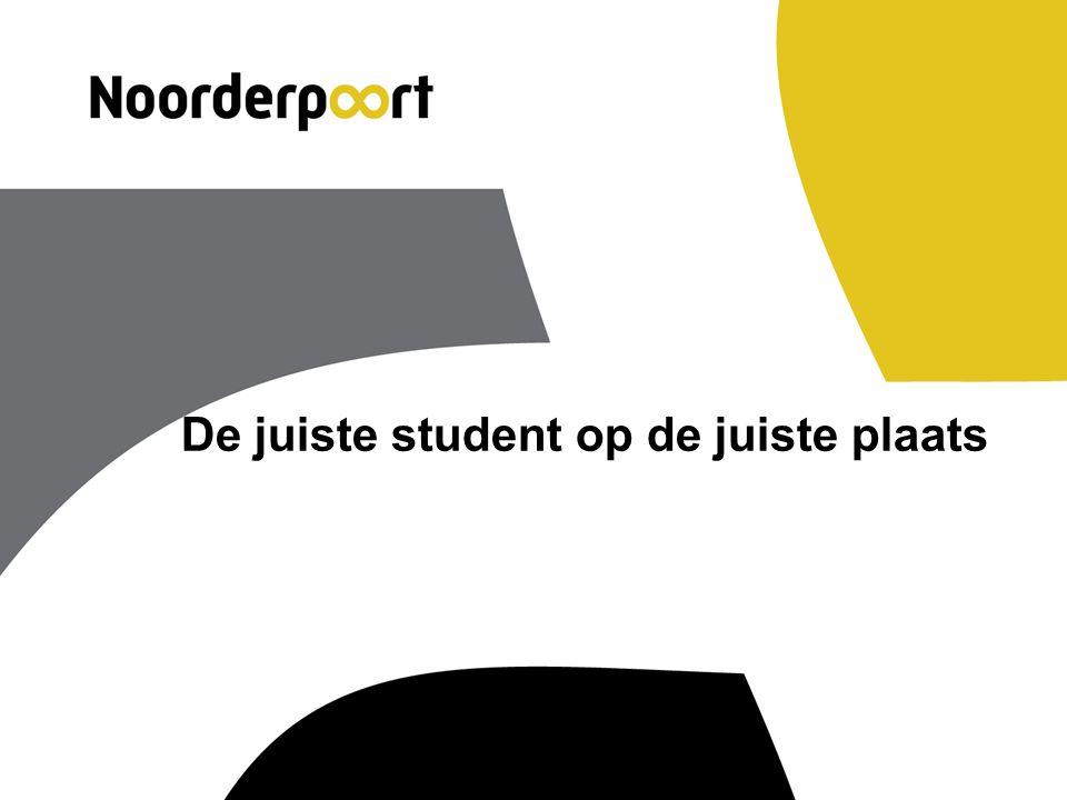 De juiste student op de juiste plaats