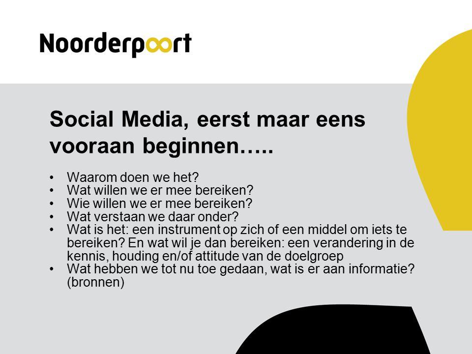 Social Media, eerst maar eens vooraan beginnen….. Waarom doen we het.