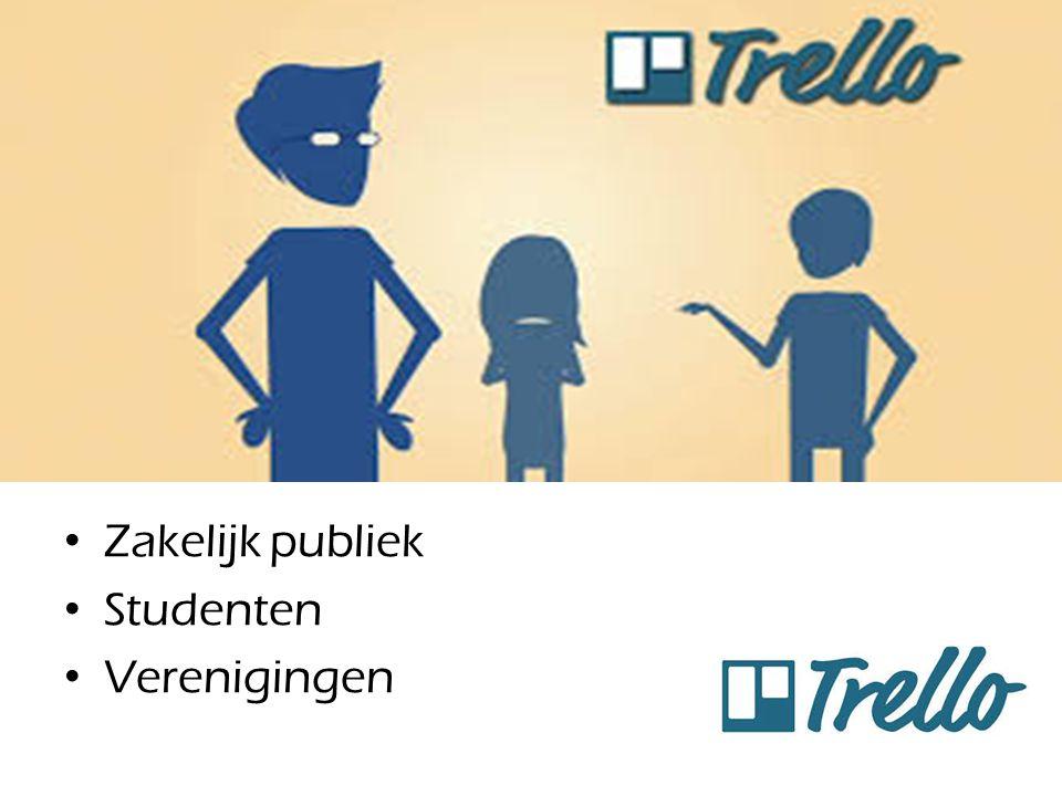 Publiek Zakelijk publiek Studenten Verenigingen
