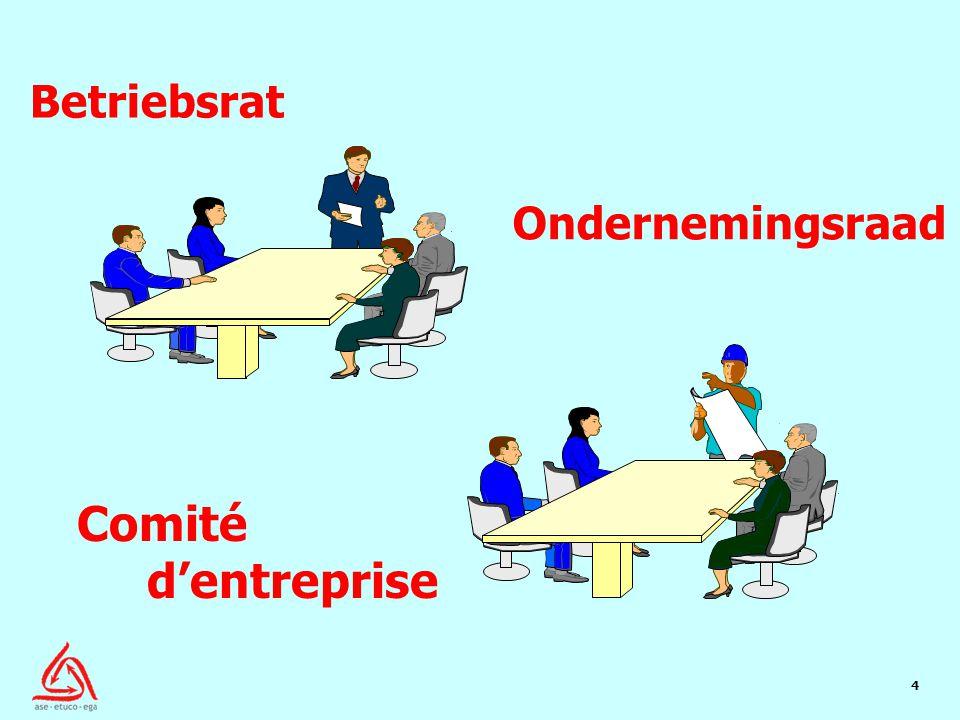 4 Ondernemingsraad Betriebsrat Comité d'entreprise