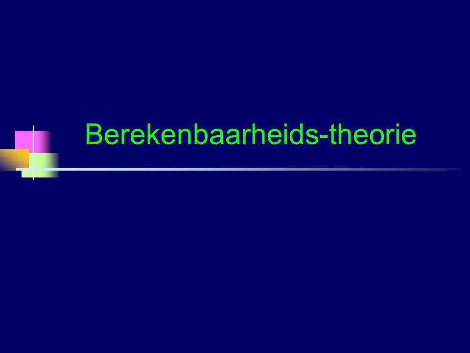 Berekenbaarheids-theorie Opsombaarheid