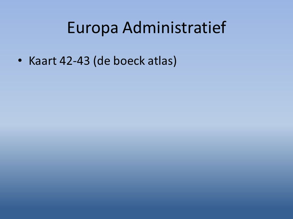 Europa Administratief Kaart 42-43 (de boeck atlas)