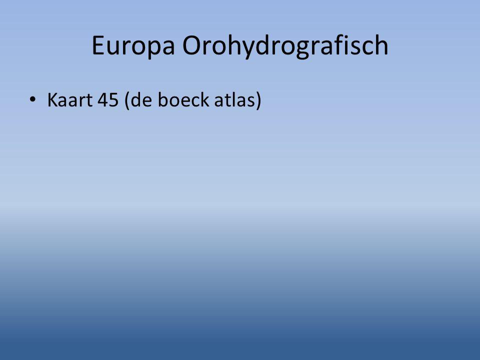 Europa Orohydrografisch Kaart 45 (de boeck atlas)