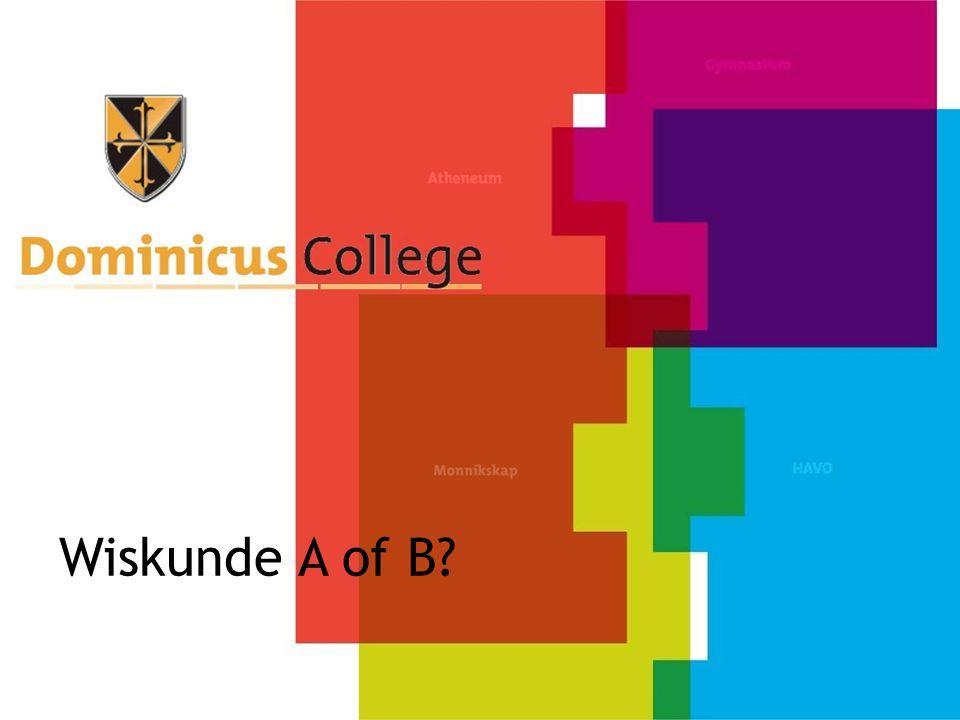 Inhoud Wiskunde A Functies en grafieken Statistiek Kansrekening Wiskunde B Functies en grafieken Veranderingen Goniometrie (sinus/cosinus) (Ruimte)meetkunde