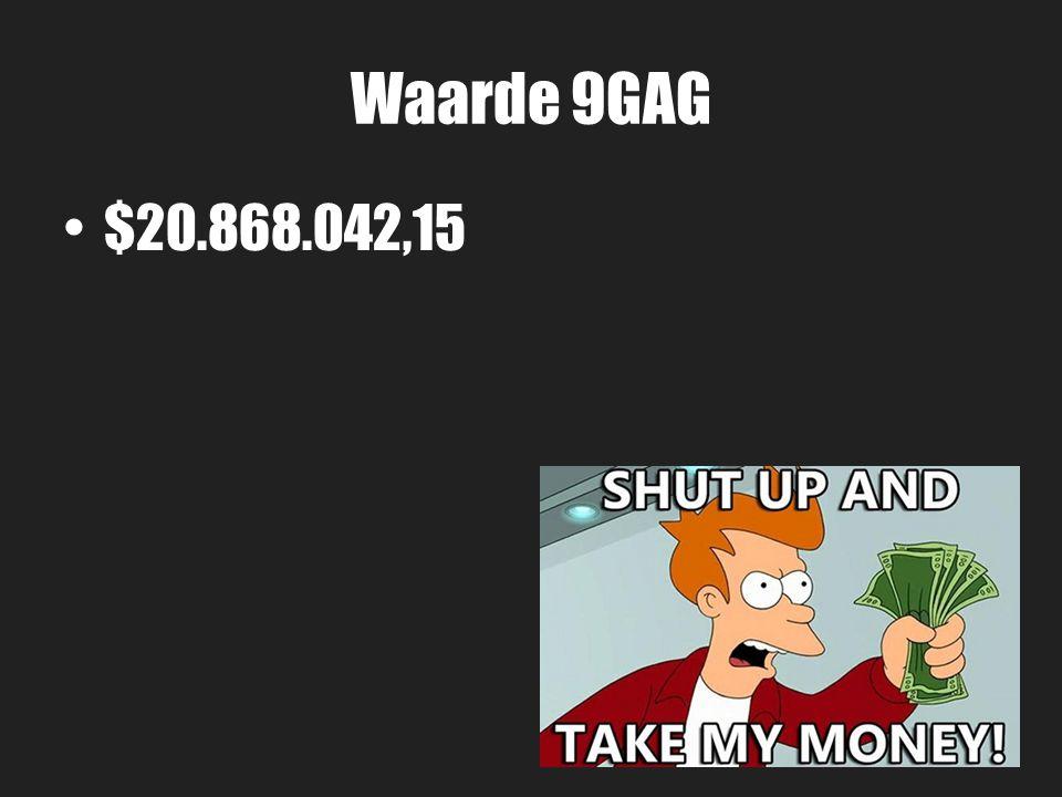 Waarde 9GAG $20.868.042,15