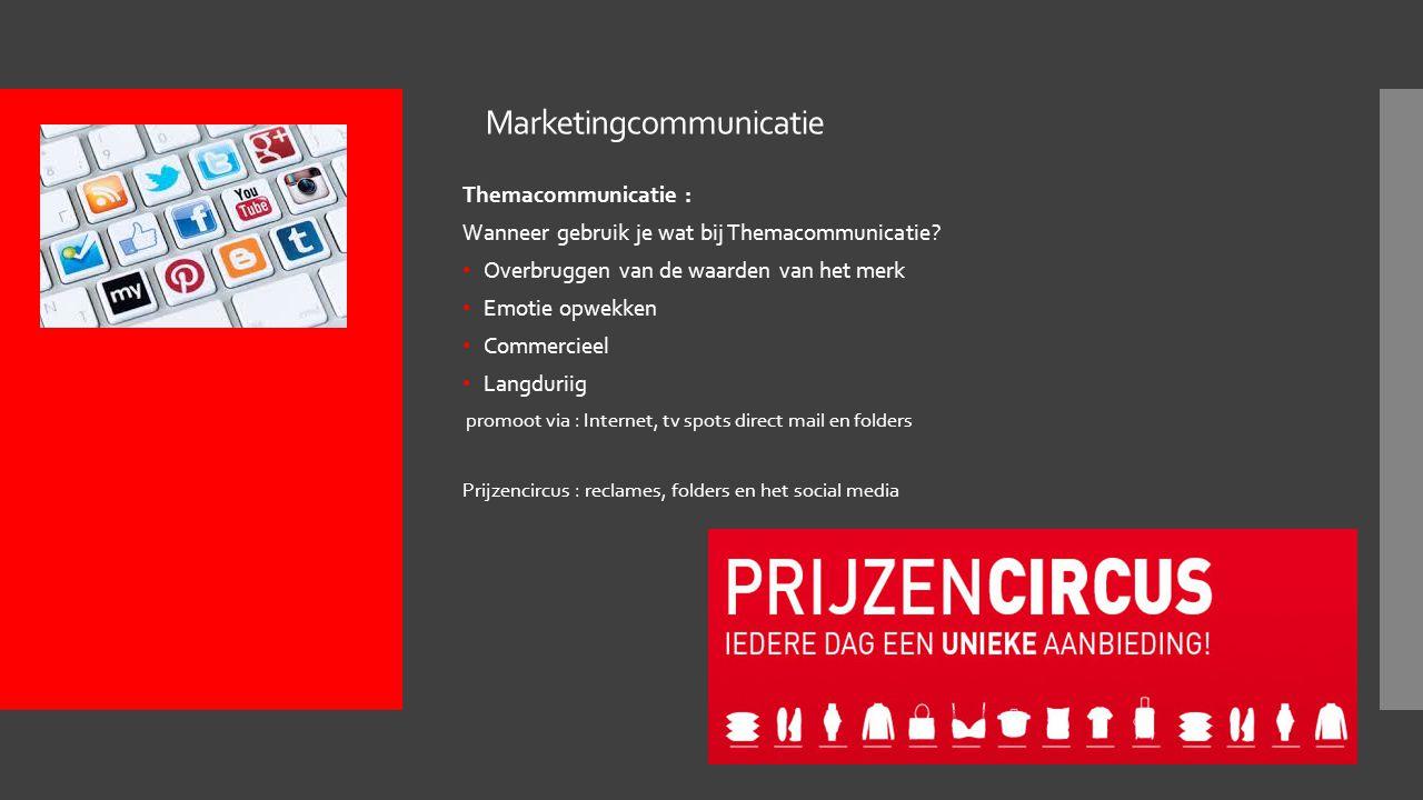Marketingcommunicatie Themacommunicatie : Wanneer gebruik je wat bij Themacommunicatie.