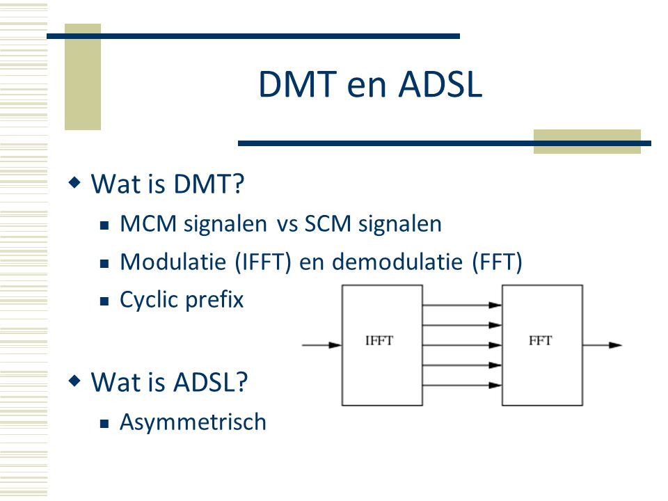 DMT en ADSL  Wat is DMT.