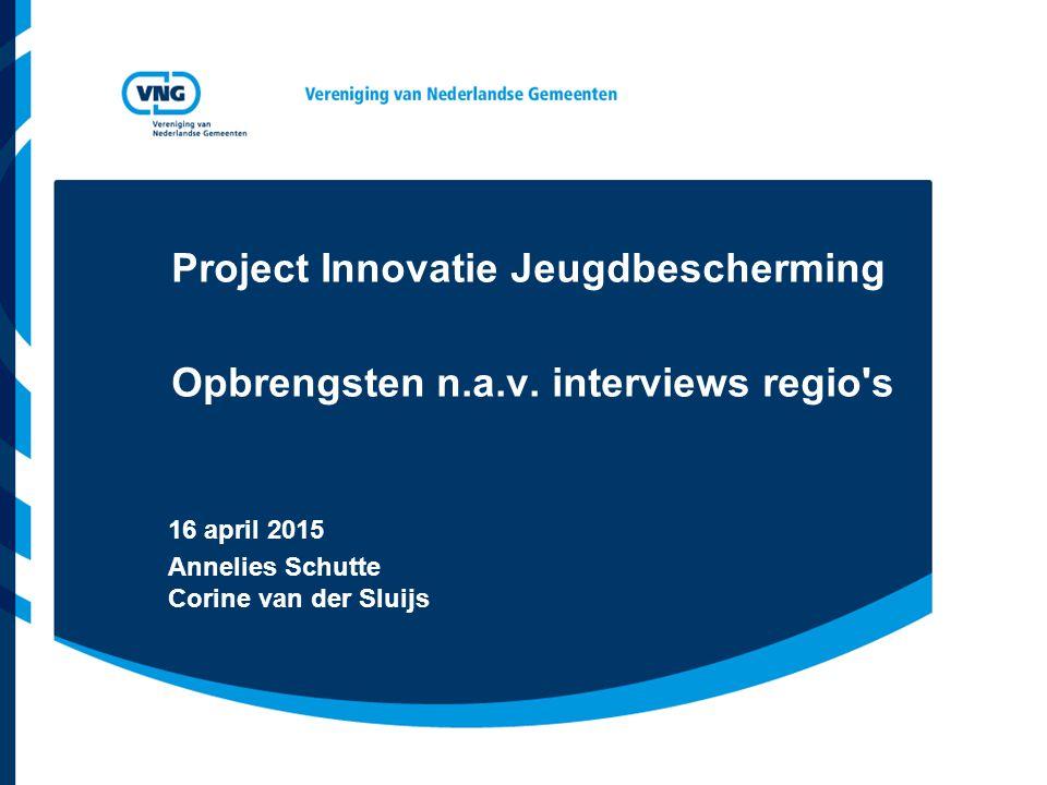 Project Innovatie Jeugdbescherming Opbrengsten n.a.v.