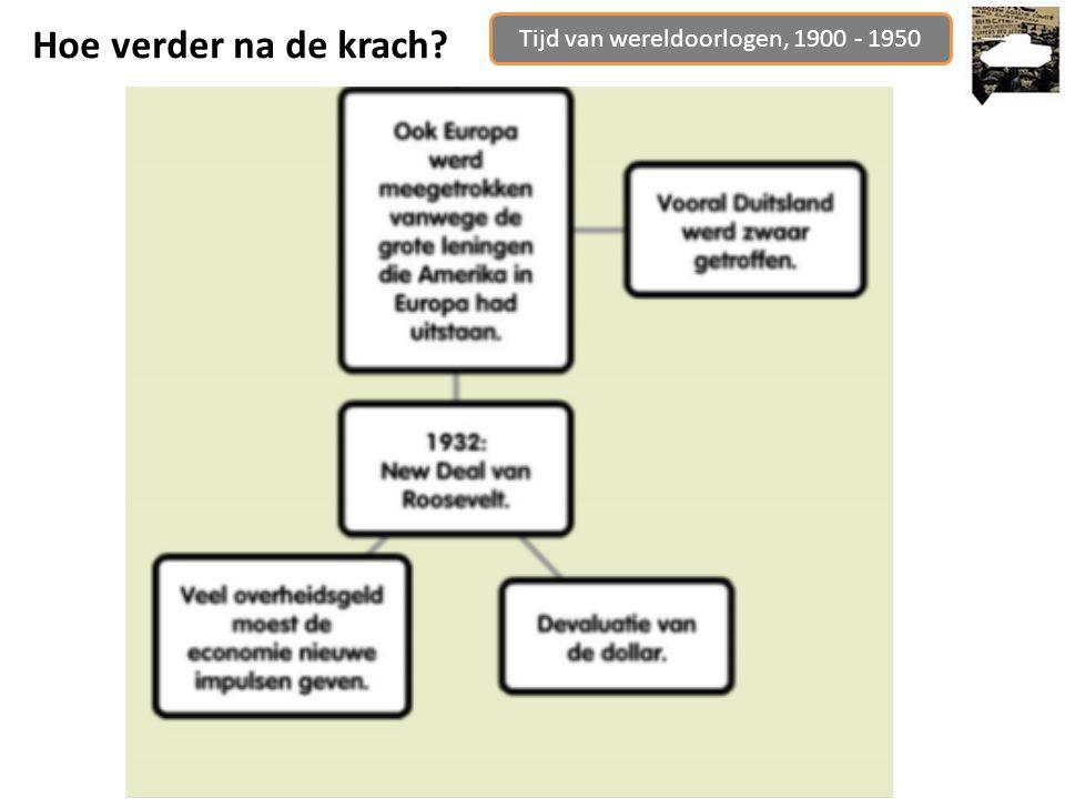 Tijd van wereldoorlogen, 1900 - 1950 Hoe verder na de krach