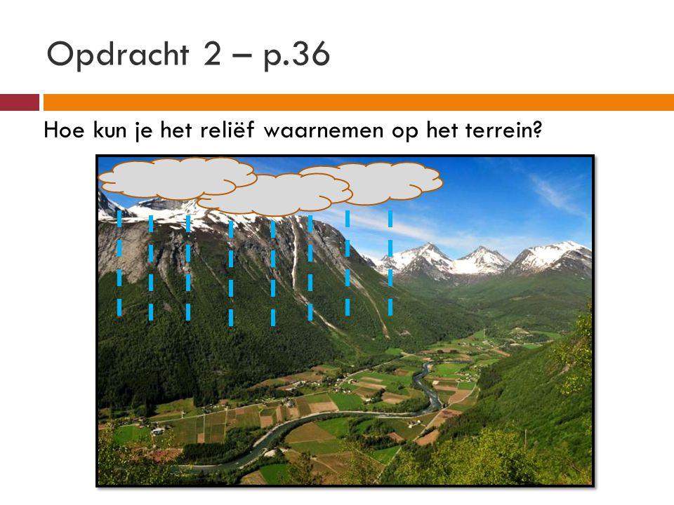 Opdracht 2 – info 4.1 Duid met blauwe pijlen de richting van het afstromende regenwater aan.