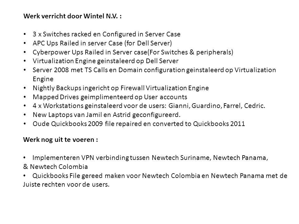 Werk verricht door Wintel N.V.