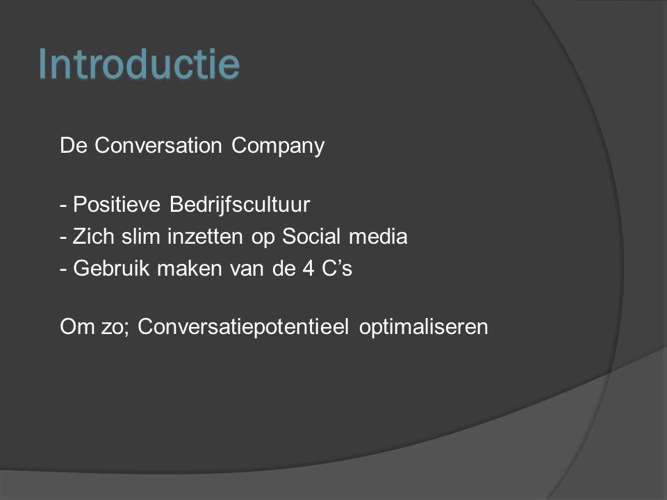De Conversation Company - Dagelijks zijn er miljarden conversaties - De opinie en het koopgedrag van de consument worden beïnvloed.