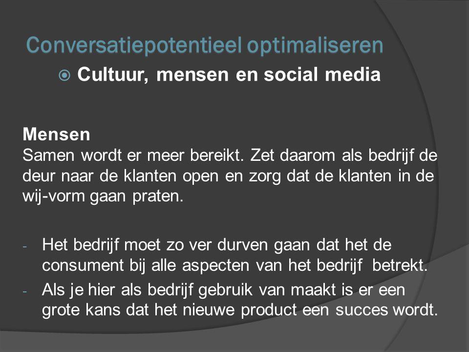 Social Media Social media is de ideale weg om de bedrijfscultuur en de verhalen over het bedrijf op grote schaal te verspreiden.